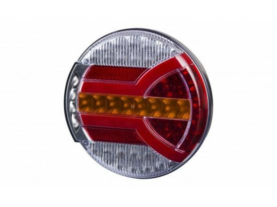 HORLZD2343 FEU  ARRIERE  ROND LED 12/24V D140 EP38 AVEC POS/STP/DIR/EP