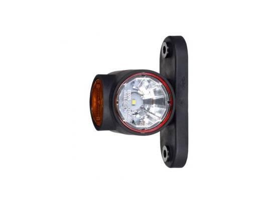 HORLD2186 FEU CORNE DROIT LED ULTRA COURT -DR/GH- AVEC CABLE 0.5M