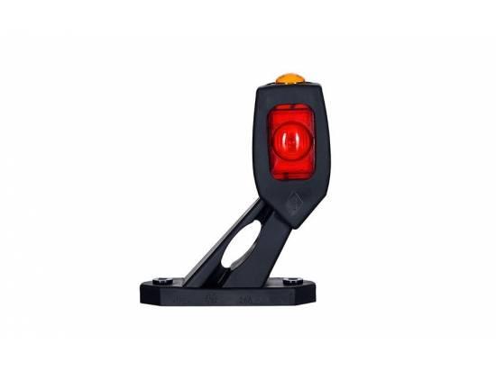HORLD2115L FEU CORNE GAUCHE LED COURT OBLIQUE ROUGE/ORANGE/BLANC