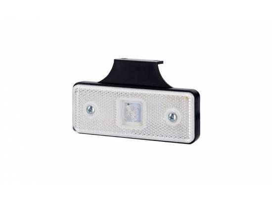 HORLD160 FEU DE POSITION LED BLANC RECTANGULAIRE 12/24V AVEC SUPPORT COUDE ARRIERE 90°