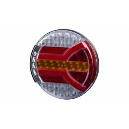 FEU  ARRIERE  ROND LED 12/24V D140 EP38 AVEC POS/STP/DIR/EP